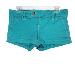American Eagle Teal Chino Style Shorts Size 4